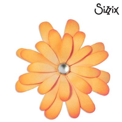 Sizzix bigz die layering daisy