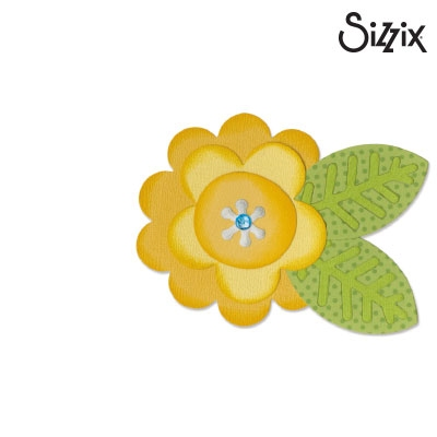 Sizzix Bigz Die flower layers & leaf #2