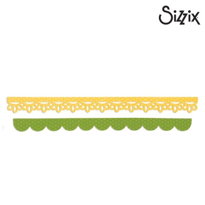 Sizzix sizzlits decorative strip die eyelet lace
