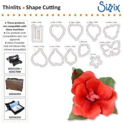 Sizzix SG thinlits dies flower hibiscus