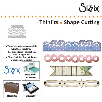 Sizzix thinlits banner & borders