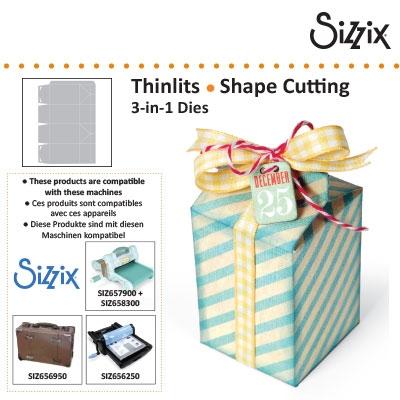 Sizzix thinlits box, milk karton