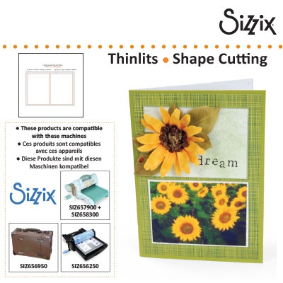 Sizzix SG thinlits die grid works 6x8.6cm rectangles