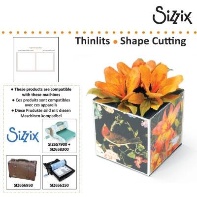 Sizzix SG thinlits die grid works 7.3cm squares