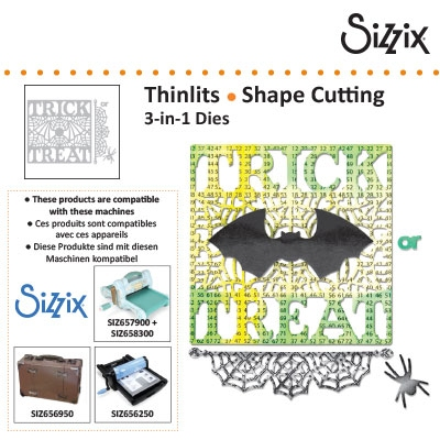 Sizzix thinlits 3 in 1 die set 4pk trick or treat