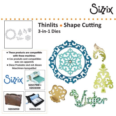 Sizzix thinlits 3 in 1 dies christmas