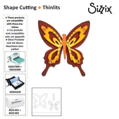 Sizzix thinlits die set x4 butterfly