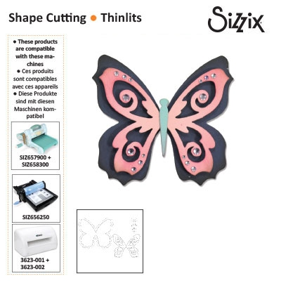 Sizzix thinlits die set x3 butterfly #2