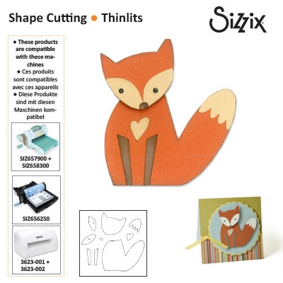 Sizzix thinlits die set x9 fox