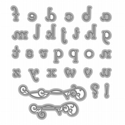 Alphabet Clarice Lowercase & Undelines Die Set