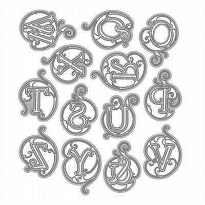 Alphabet Duo Caps Initials - Clarice O-Z Die Set