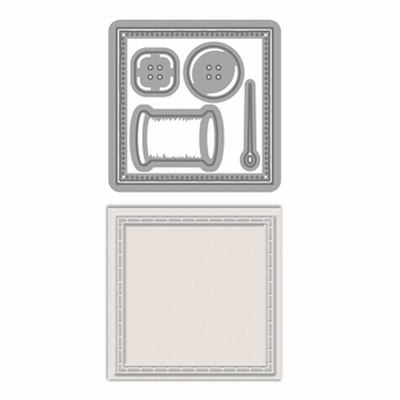 Patchwork perfection square stitch Die & Emboss set