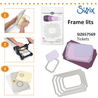 Sizzix Framelits Die set 5pk tickets