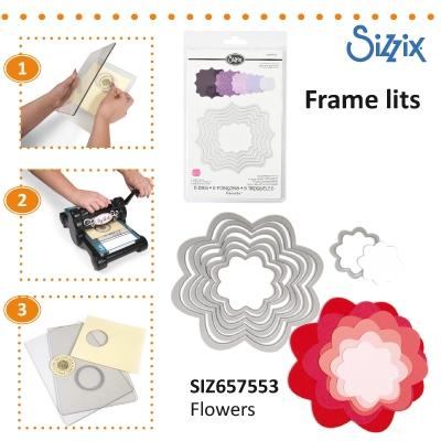 Sizzix Framelits Die set 7pk flowers