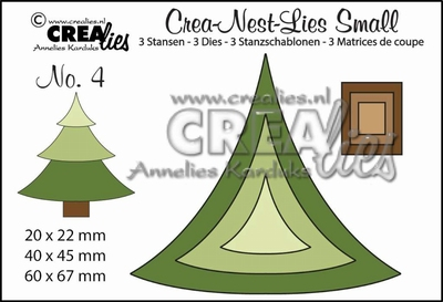 nest-dies small no. 4 kerstboom CLNestSm04 / 6x6,7 cm