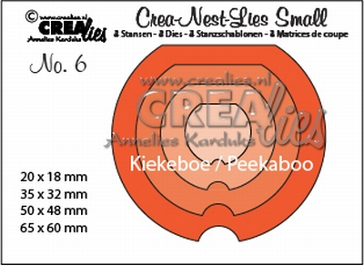 nest-dies small no. 6 Kiekeboe rond CNLS06 / 6,5x6 cm