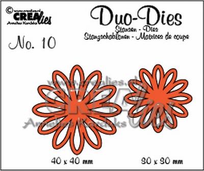 Duo Dies no 10 Open Flowers Small 2 CLOFS02 CLDD10