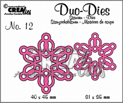 Duo Dies no. 12 Open Flowers Small 4 CLOFS04 CLDD12