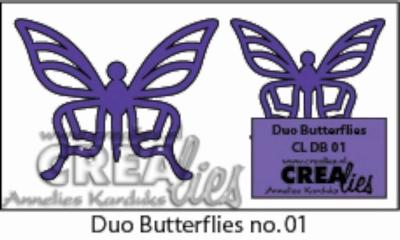 Duo Dies no 5. Duo Butterflies 1 CLDB01 CLDD05 / 3 cm & 4 cm