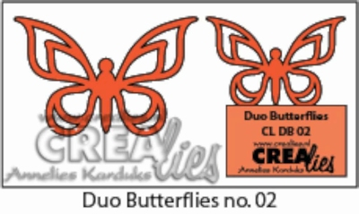 Duo Dies no. 6 Duo Butterflies 2 CLDB02 CLDD06 / 3 cm & 4 cm