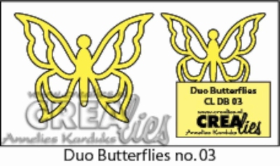 Duo Dies no. 7 Duo Butterflies 3 CLDB03 CLDD07 / 3 cm & 4 cm