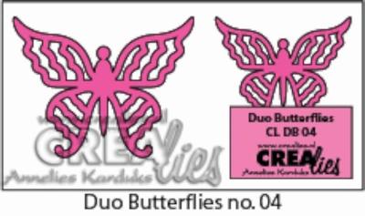 Duo Dies no. 8 Duo Butterflies 4 CLDB04 CLDD08 / 3 cm & 4 cm