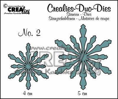 Duo Die no. 2 sneeuwvlok CLDD02 / 4 & 5 cm