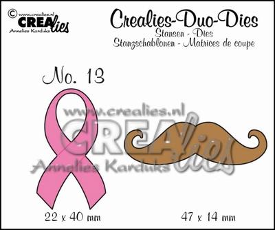 Duo Die no. 13 snor en sjaal CLDD13 / 2,2x4 4,7x1,4 cm