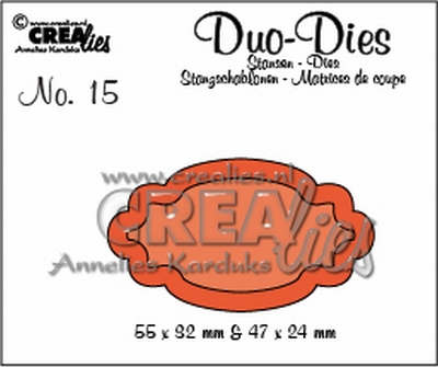 Duo Die no. 15 Duo Labels 2 CLDD15 / 5,5x3,2 4,7x2,4 cm