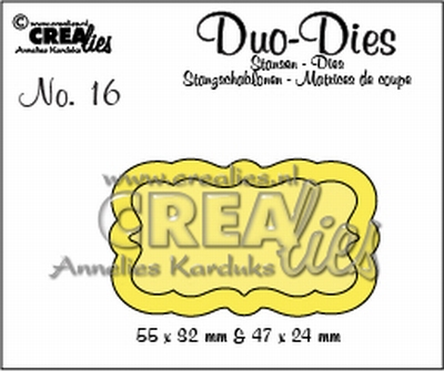 Duo Die no. 16 Duo Labels 3 CLDD16 / 5,5x3,2 4,7x2,4 cm