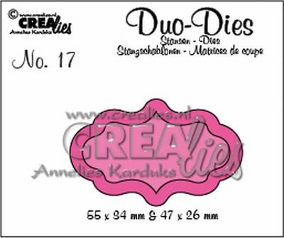 Duo Die no. 17 Duo Labels 4 CLDD17 / 5,5x3,4 4,7x2,6 cm