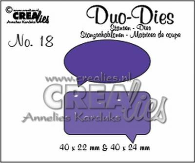 Duo Die no. 18 Spreekwolkjes CLDD18 / 4x2,2 4x2,4 cm
