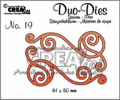 Duo Die no. 20 Swirls 1 CLDD20 / 6,1x3