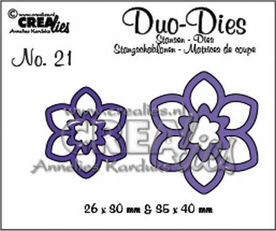 Duo Die no. 21 Bloemen 12 CLDD21 / 2,6x3 3,5x4 cm