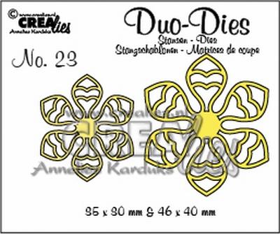 Duo Die no. 23 Flowers 14 CLDD23 / 9,5x9 4,6x4 cm