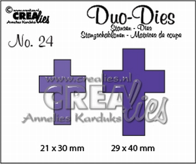 Duo Die no. 24 crosses CLDD24 21 x 30 mm - 29 x 40 mm