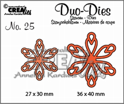 Duo Die no. 25 Flowers 15 CLDD25 27 x 30 mm - 36 x 40 mm