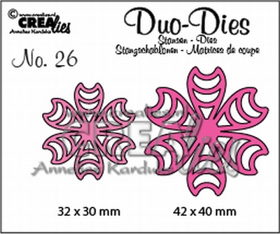 Duo Die no. 26 Flowers 16 CLDD26 32 x 30 mm - 42 x 40 mm