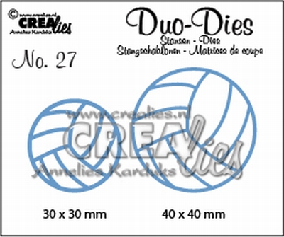 Duo Dies no. 27 volleyballen 30x30mm-40x40mm / CLDD27