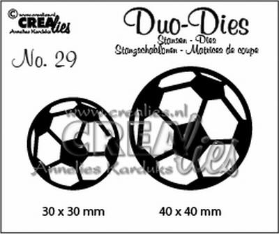 Duo Dies no. 29 voetballen 30x30mm-40x40mm / CLDD29