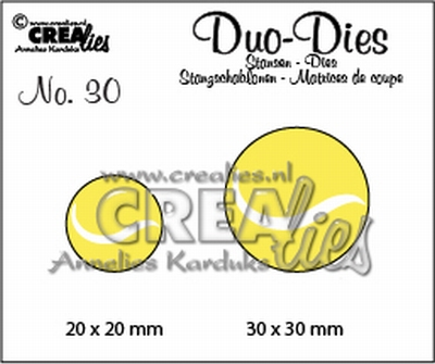 Duo Dies no. 30 tennisballen 20x20mm-30x30mm / CLDD30