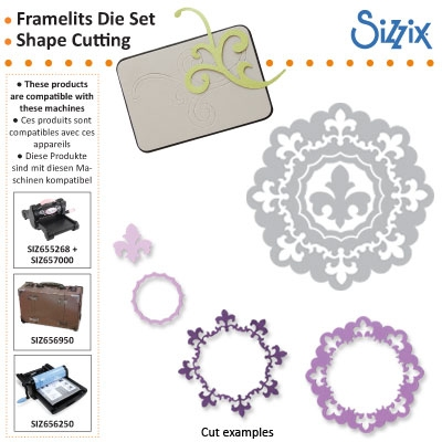Sizzix Framelits die set 4pk circle frame
