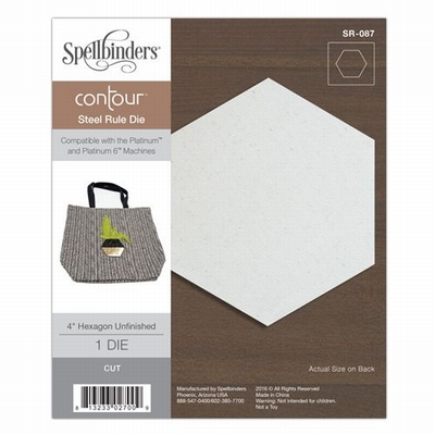4'' Hexagon Unfinished Contour Steel Rule Die (SR-087)