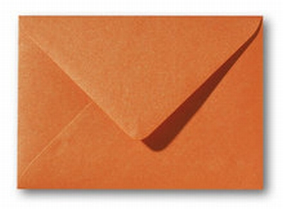 10 Envelop 12x18 CM Metallic Orange Glow
