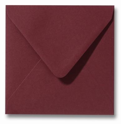 32 Envelop 12x12 cm Roma Donkerrood