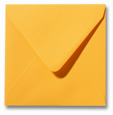 10 Envelop 14x14 cm Roma Goudgeel