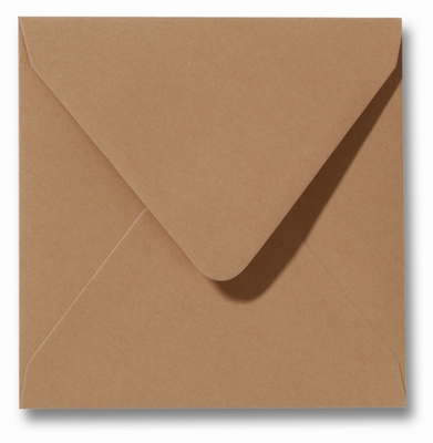 28 Envelop 14x14 cm Roma Bruin