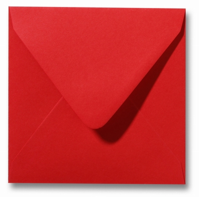 29 Envelop 14x14 cm Roma Pioenrood