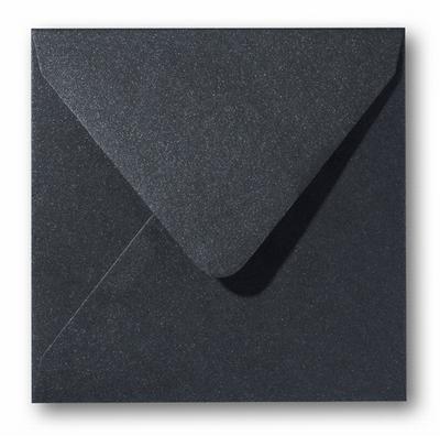 15 Envelop 14x14 cm Metallic Black