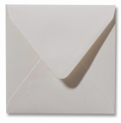 16 Envelop 14x14 cm Metallic Ivory